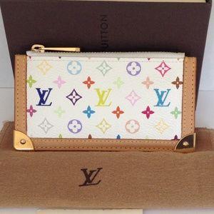 Louis Vuitton Multicolor White Key pouch